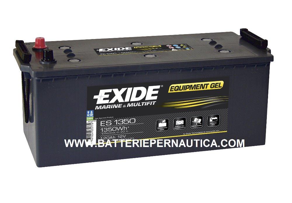 batteria exide equipment gel es1350 per nautica 12v 120. Black Bedroom Furniture Sets. Home Design Ideas
